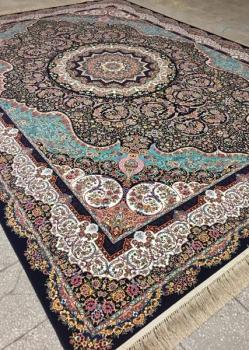خرید فرش ۱۲۰۰ شانه طرح آذرخش - فرش ماشینی کاشان