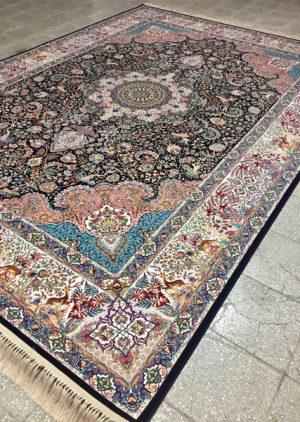 فرش ۱۲۰۰ شانه طرح بنفشه - فرش ماشینی