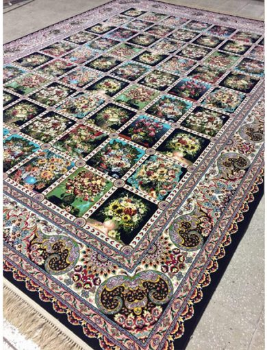 فرش ۱۲۰۰ شانه طرح خشتی