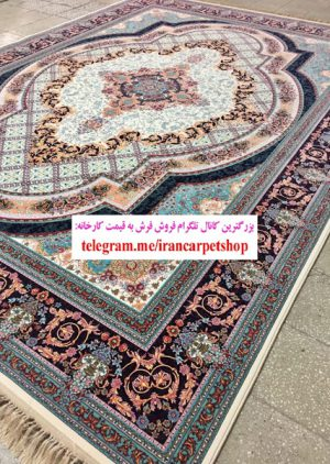 خرید فرش ۱۲۰۰ شانه طرح زرنگار از کارخانه فرش ماشینی