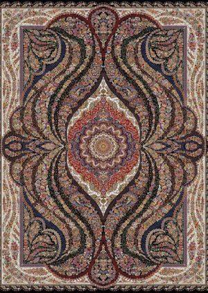 فرش ۱۰۰۰ شانه طرح اریکا - فرش کاشان