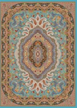 فرش ۱۲۰۰ شانه طرح اشرافی زمینه سرمه ای
