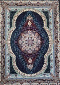 فرش ۱۲۰۰ شانه طرح مشاهیر زمینه سرمه ای