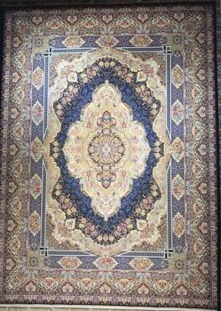 فرش 1200 شانه طرح نرگس زمینه سرمه ای