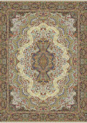 فرش ۱۰۰۰ شانه طرح گلستان - فرش کاشان