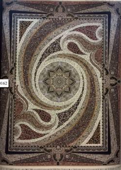 فرش 1000 شانه زمینه کرم - کارخانه فرش کاشان