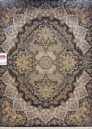 فرش ۱۰۰۰ شانه رنگ سرمه ای - فرش کاشان