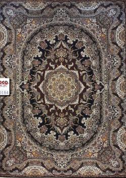 فرش ۱۰۰۰ شانه زمینه سرمه ای - فرش کاشان