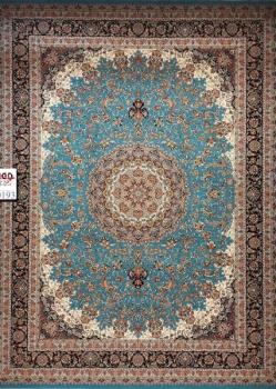 فرش ۱۰۰۰ شانه زمینه آبی - فرش کاشان
