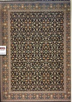 فرش ۱۰۰۰ شانه زمینه سرمه ای کارخانه قالی کاشان
