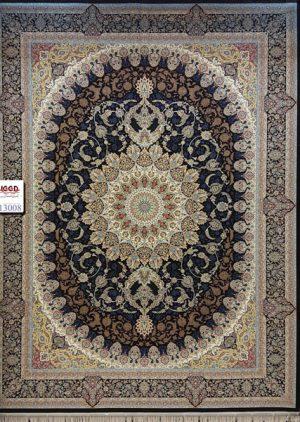 فرش ۱۲۰۰ شانه گل برجسته - فرش کاشان