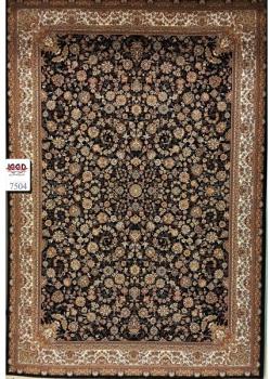 فرش ۷۰۰ شانه کاشان زمینه سرمه ای