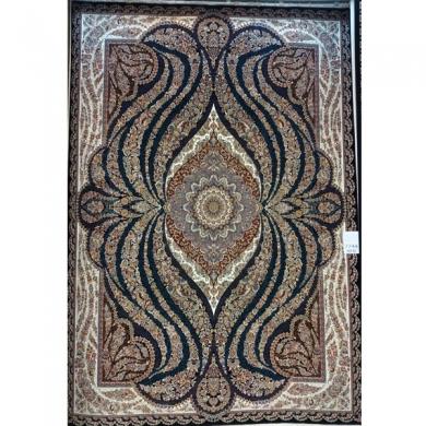 فرش ۷۰۰ شانه زمینه سرمه ای   خرید مستقیم از کارخانه فرش
