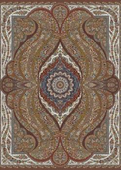 فرش ۱۰۰۰ شانه طرح اریکا زمینه گردویی