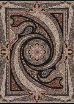 فرش ۱۰۰۰ شانه طرح کهکشان زمینه سرمه ای