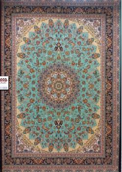 فرش ۱۰۰۰ شانه زمینه آبی رنگ 11008