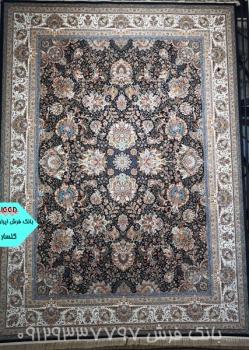 فرش 1000 شانه طرح گلسار زمینه سرمه ای