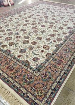 فرش 1200 شانه طرح افشان زمینه آبی