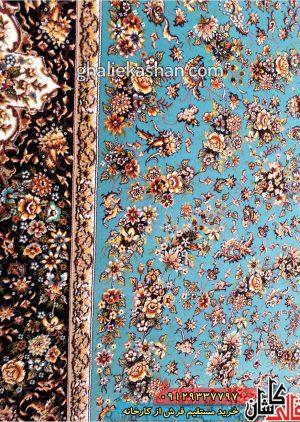 حاشیه-فرش-طرح-گل-فرنگ-زمینه-آبیحاشیه-فرش-طرح-گل-فرنگ-زمینه-آبی