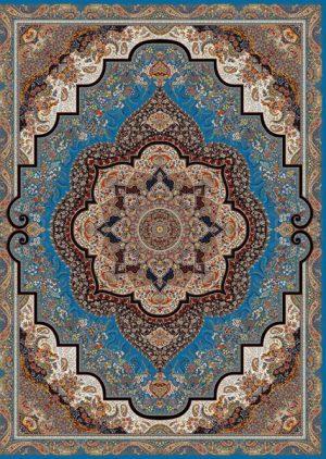 فرش 1200 شانه طرح شهرزاد محتشم زمینه آبی