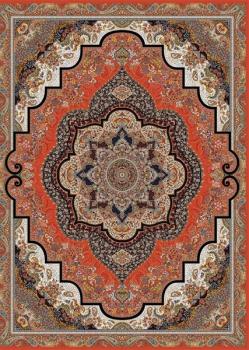 فرش 1200 شانه طرح شهرزاد محتشم زمینه قرمز