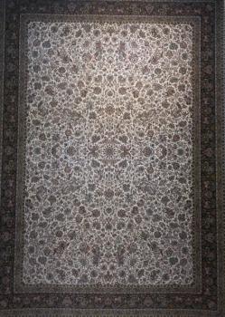 فرش 1200 شانه طرح گل مرغ زمینه کرم