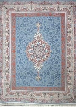 فرش طرح سها زمینه نقره ای