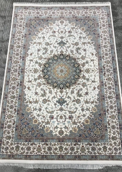 فرش 1200 شانه طرح اصفهان زمینه کرم