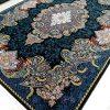خرید ارزان فرش 1000 شانه طرح شهرزاد زمینه سرمه ای - فرش کاشان