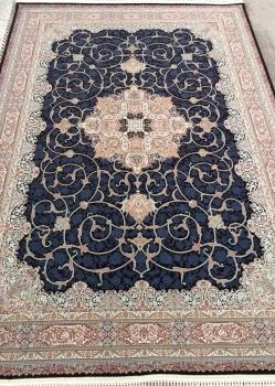 فرش 1200 شانه طرح فلورا زمینه قهوه ای