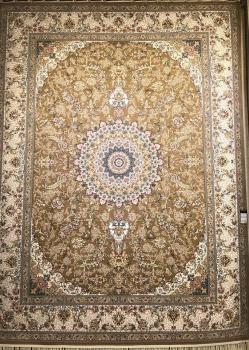فرش طرح بهاره نسکافه ای 700 شانه برجسته - فرش ماشینی کاشان