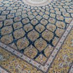 خرید فرش 1500 شانه طرح گنبد - فرش ماشینی کاشان