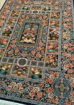 خرید فرش باغ ارم طرح 700 شانه - فرش کاشان
