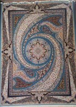 خرید مستقیم فرش کهکشان آبی فیروزه ای