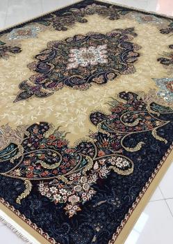 فرش 1000 شانه طرح شهرزاد بادامی - فرش کاشان