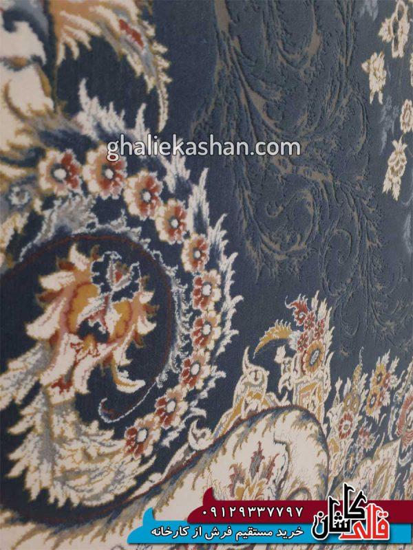 زمینه-فرش-1500-شانه-طرح-باران-زمینه-اطلسی-محتشم-کاشان---گل-برجسته