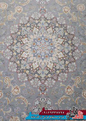 زمینه فرش 1500 شانه طرح گل گشت زمینه متالیک محتشم کاشان