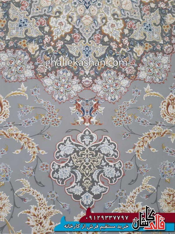 زمینه-فرش-1500-شانه-طرح-گل-گشت-زمینه-متالیک-محتشم-کاشان---گل-برجسته---2