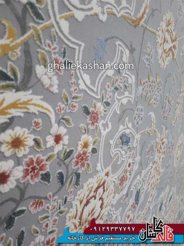 زمینه-فرش-1500-شانه-طرح-گل-گشت-زمینه-متالیک-محتشم-کاشان---گل-برجسته---3
