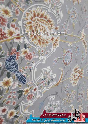 زمینه-فرش-1500-شانه-طرح-گل-گشت-زمینه-متالیک-محتشم-کاشان---گل-برجسته---4