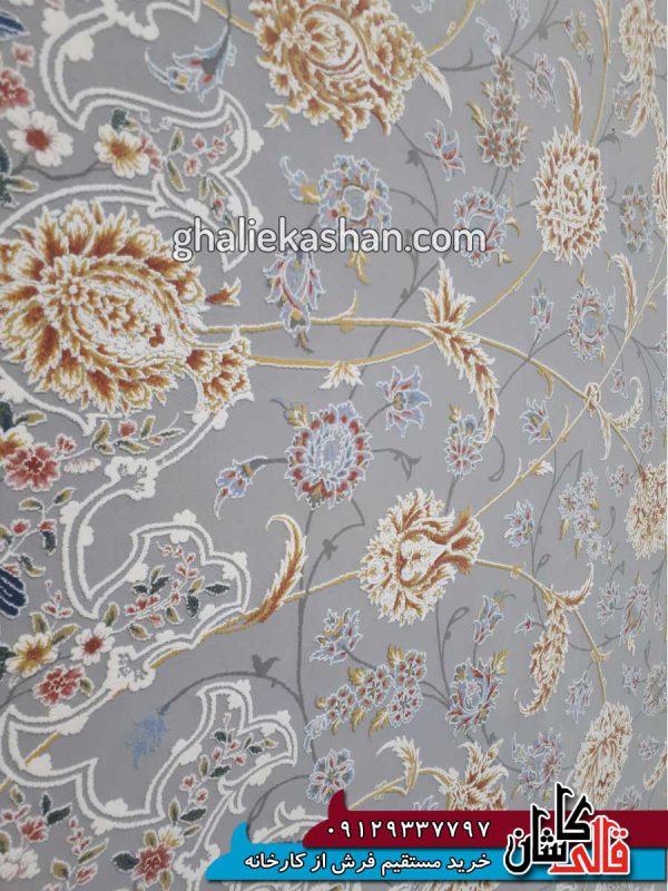زمینه-فرش-1500-شانه-طرح-گل-گشت-زمینه-متالیک-محتشم-کاشان---گل-برجسته---5
